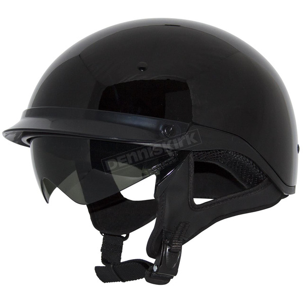 Zox Gloss Black Roadster DDV Helmet - Z88-00452
