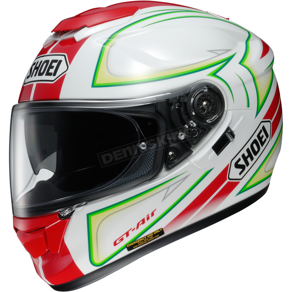 Shoei Helmets Red/White/Green GT-Air Expanse TC-10 Helmet - 0118-1710-06