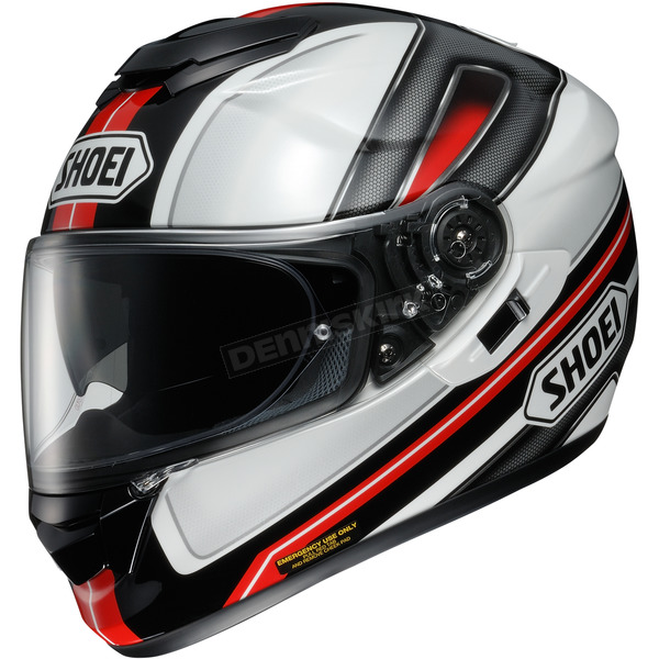 Shoei Helmets Black/Red/White GT-Air Dauntless TC-1 Helmet - 0118-1801-03