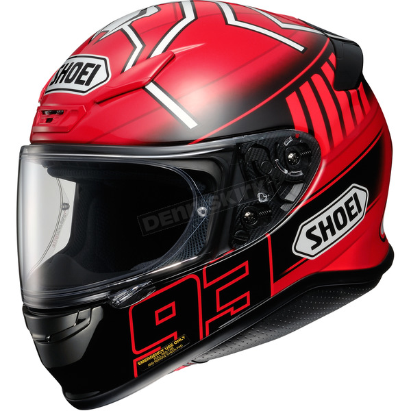 Shoei Helmets Red/Black/White RF-1200 Marquez 3 TC-1 Helmet - 0109-2201-03