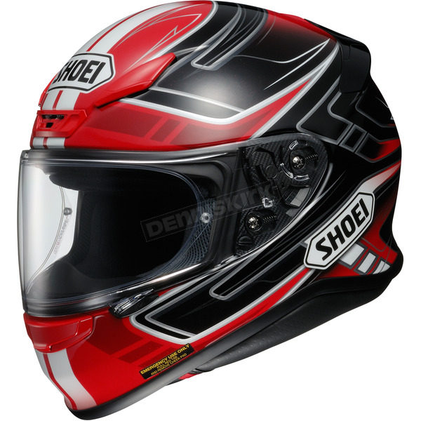 Shoei Helmets Red/Black/White RF-1200 Valkyrie TC-10 Helmet - 0109-2310-04