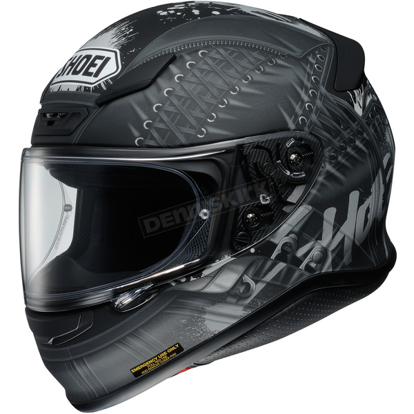 Shoei Helmets Black/Gray RF-1200 Seduction TC-5 Helmet - 0109-2505-05