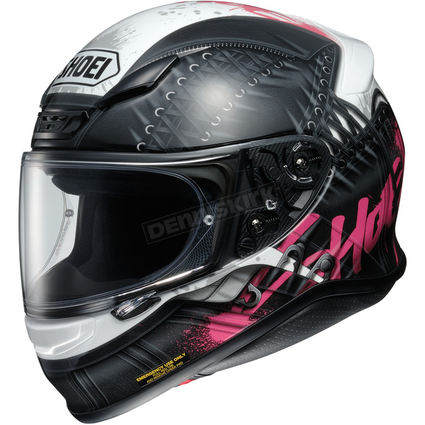Shoei Helmets Black/White/Pink RF-1200 Seduction TC-7 Helmet - 0109-2507-05
