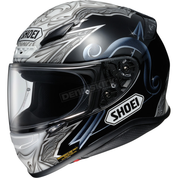 Shoei Helmets Black/White/Gray RF-1200 Diabolic TC-5 Helmet - 0109-2605-06