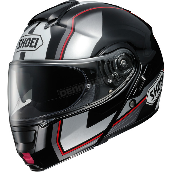 Shoei Helmets Black/Silver/Red Neotec Imminent TC-5 Modular Helmet - 0117-1205-04