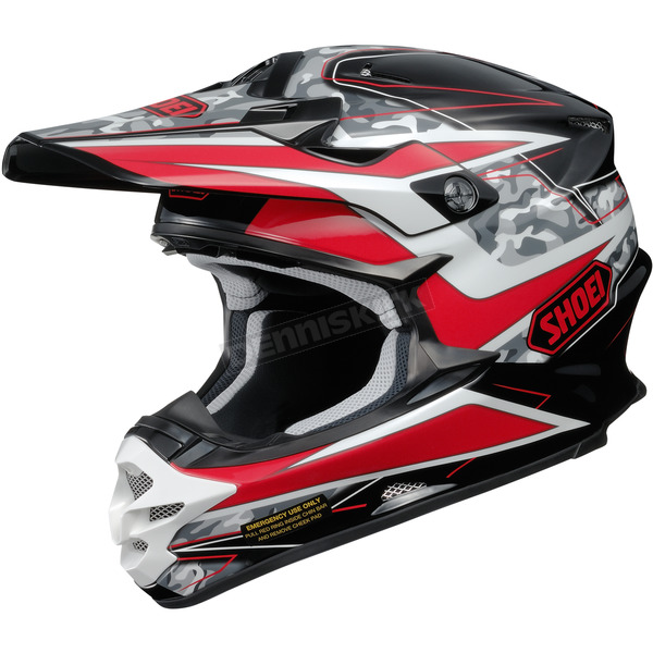 Shoei Helmets Red/Black/White VFX-W Turmoil TC-1 Helmet - 0145-8901-05