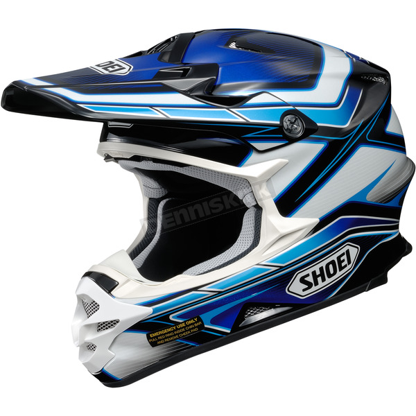 Shoei Helmets Blue/White/Black VFX-W Capacitor TC-2 Helmet - 0145-9002-05