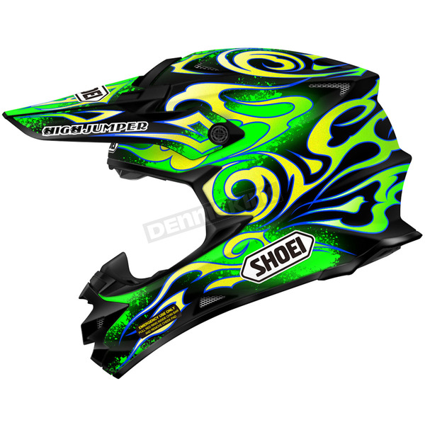 Shoei Helmets Green/Yellow/Black VFX-W Taka TC-4 Helmet - 0145-9104-04