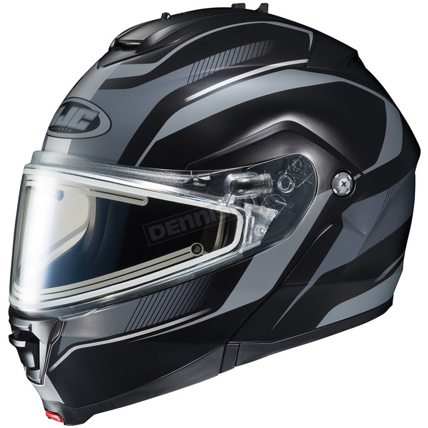HJC Black/Matte Silver IS-Max 2 Style Snowmobile Helmet w/Electric Shield - 187-953