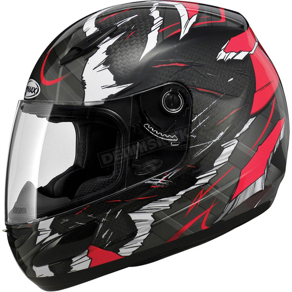 GMax Red/Black/White GM48SPC Shatter Helmet - 72-5272X