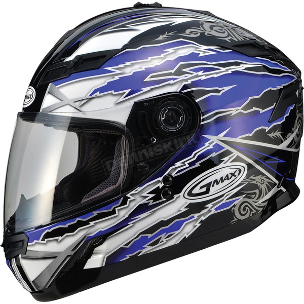 GMax Blue/White/Black GM78S Firestarter Full Face Helmet - 72-49122X