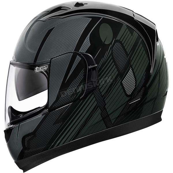 Icon Black Primary Alliance GT Helmet - 0101-8985