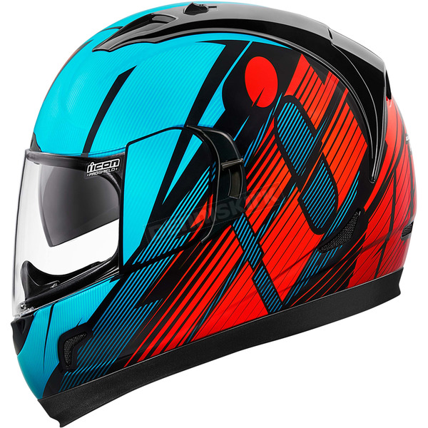 Icon Blue/Red Primary Alliance GT Helmet - 0101-8994