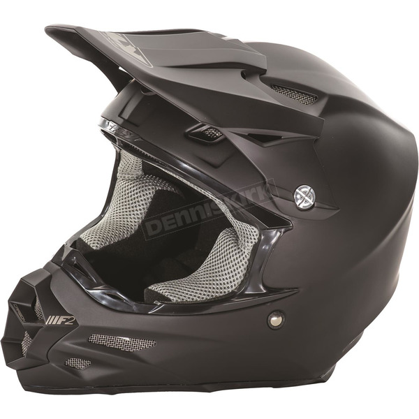 Fly Racing Matte Black F2 Carbon Helmet - 73-4008XS