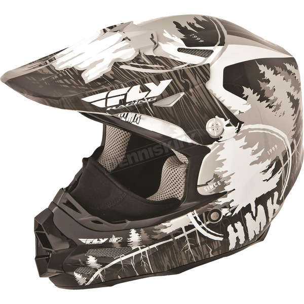 Fly Racing Black HMK Stamp F2 Carbon Helmet - 73-4921XS