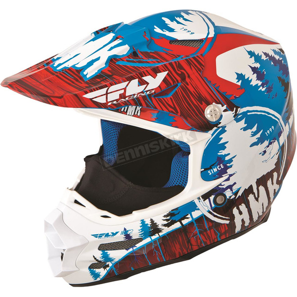 Fly Racing Red/Blue HMK Stamp F2 Carbon Helmet - 73-4922M