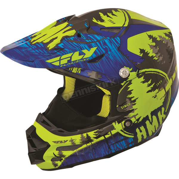 Fly Racing Blue/Green HMK Stamp F2 Carbon Helmet - 73-4923X