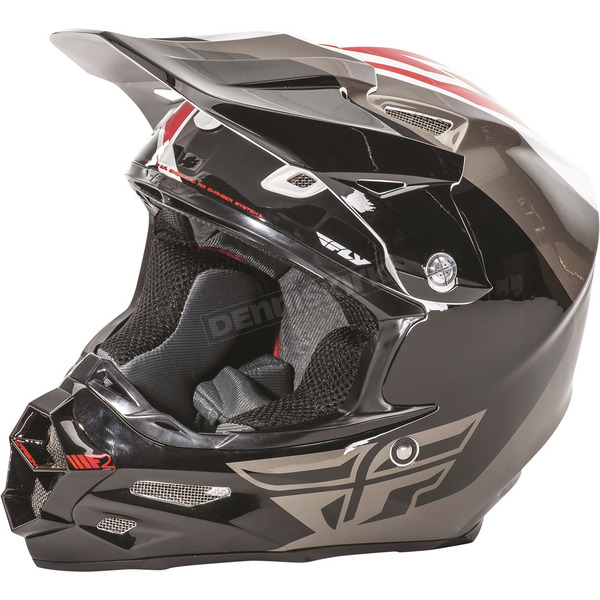 Fly Racing White/Black/Gray F2 Carbon Pure Helmet - 73-4120XS