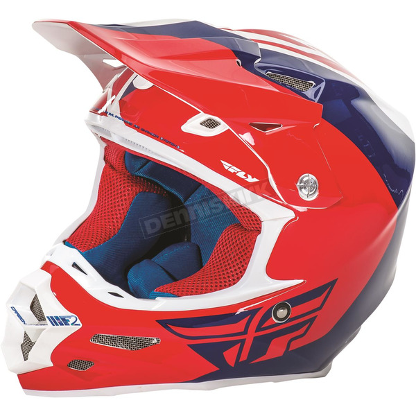 Fly Racing Red/Blue/White F2 Carbon Pure Helmet - 73-4122XS