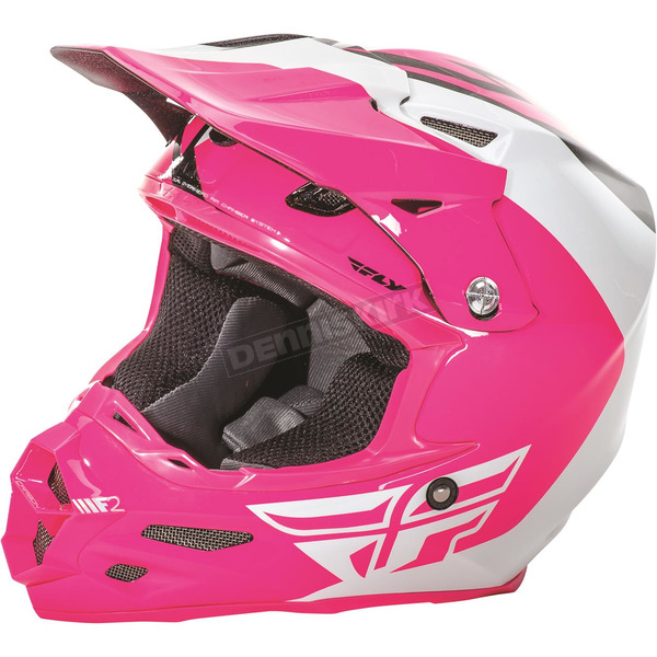 Fly Racing Pink/White/Black F2 Carbon Pure Helmet - 73-4129X
