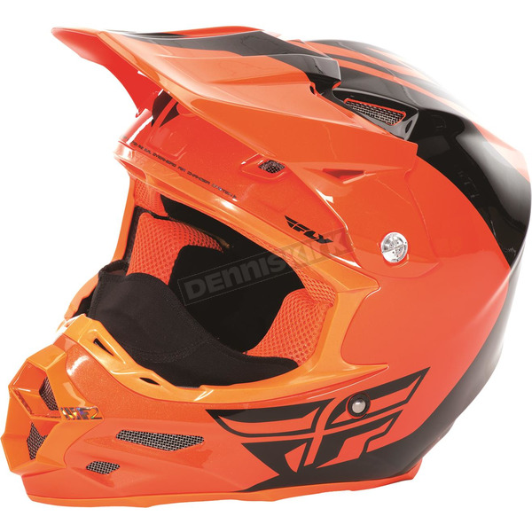 Fly Racing Flo Orange/Black F2 Carbon Pure Cold Weather Helmet - 73-4127L