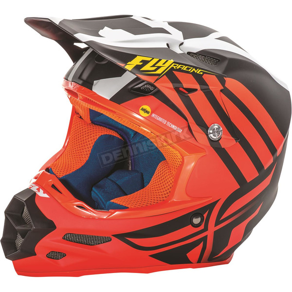 Fly Racing Matte Orange/Black/White F2 Carbon MIPS Zoom Helmet - 73-4206X