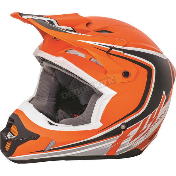 Fly Racing Youth Matte Orange/Black Kinetic Fullspeed Helmet - 73-3370YL