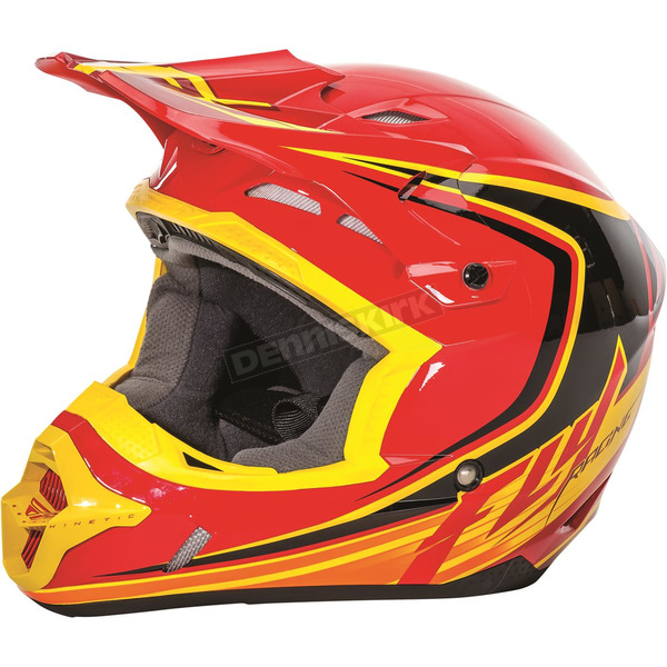 Fly Racing Red/Black/Yellow Kinetic Fullspeed Helmet - 73-3372S