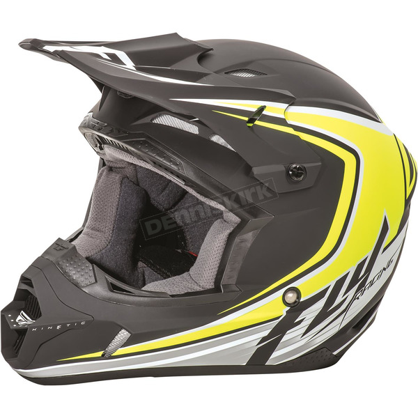 Fly Racing Matte Black/Hi-Vis Kinetic Fullspeed Helmet - 73-3375X