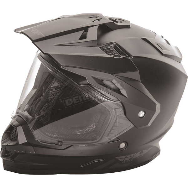 Fly Racing Matte Black Trekker Helmet - 73-7011M