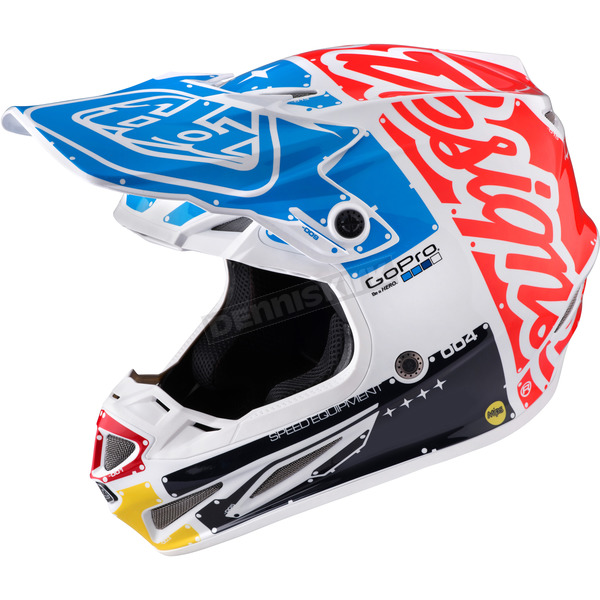 Troy Lee Designs White Factory SE4 Carbon Helmet - 102008106