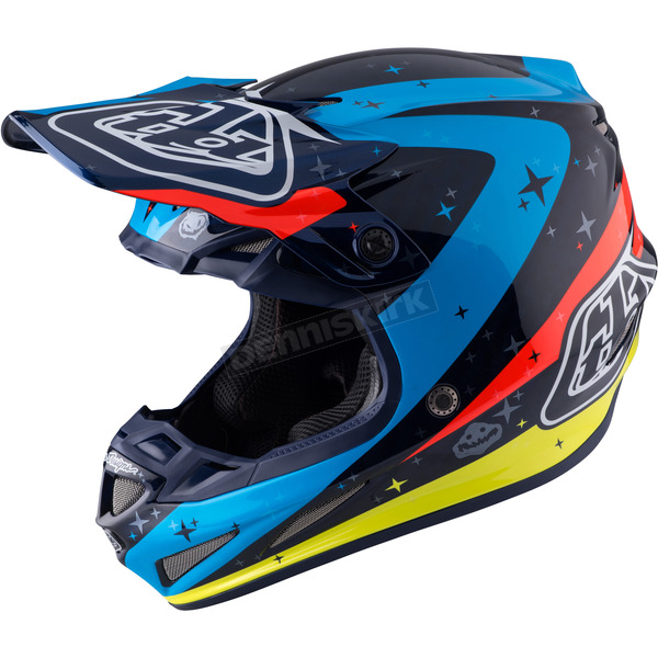 Troy Lee Designs Navy Twilight SE4 Carbon Helmet - 102124303