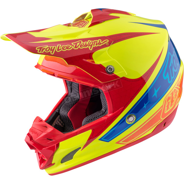 Troy Lee Designs Yellow Corse 2 SE3 Helmet - 109123502