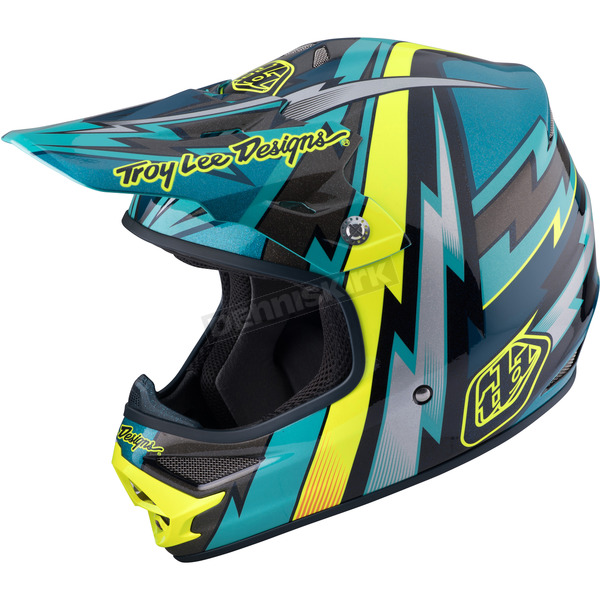 Troy Lee Designs Green Air Beams Helmet - 117127803