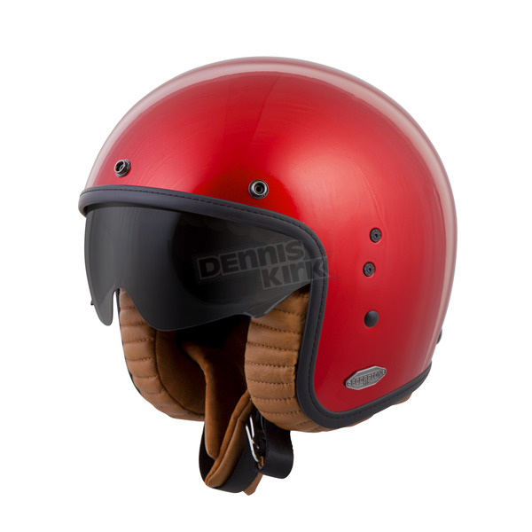 Scorpion Candy Red Belfast Helmet - BEL-1016