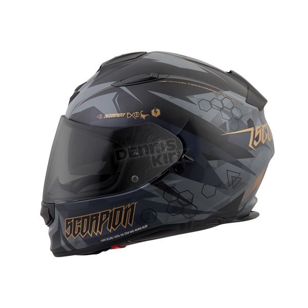 Scorpion Black Cipher EXO-T510 Helmet - T51-1225