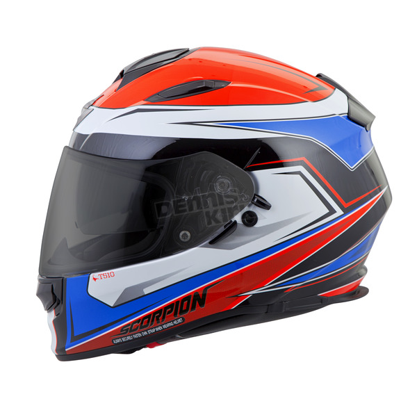 Scorpion Red/White/Blue Tarmac EXO-T510 Helmet - T51-1034
