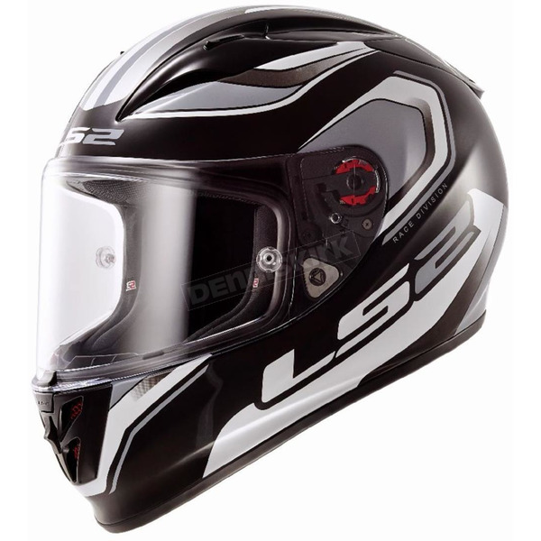 LS2 Black/White/Gray Geo Arrow Full Face Helmet - 323-1103