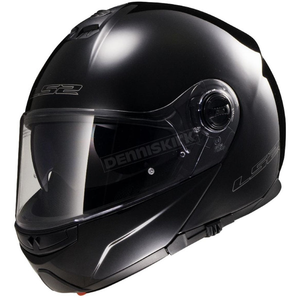 LS2 Black Strobe FF325 Modular Helmet with Sunshield - 325-1006