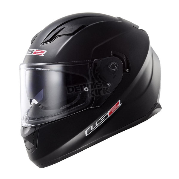 LS2 Matte Black Stream FF328 Full Face Helmet - 328-1012