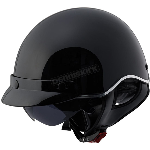 LS2 Black SC3 Half Helmet with Sunshield - 566-1262