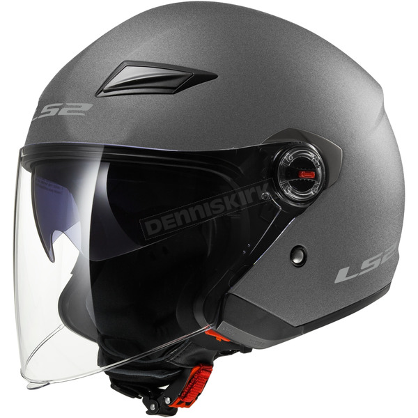 LS2 Gunmetal OF569 Track Helmet with Sunshield - 569-3032