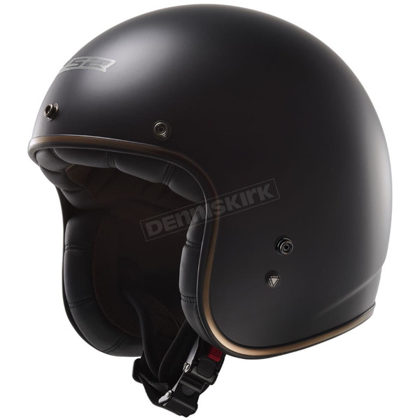 LS2 Matte Black Kurt Bobber OF588 Open Face Helmet - 588-1213