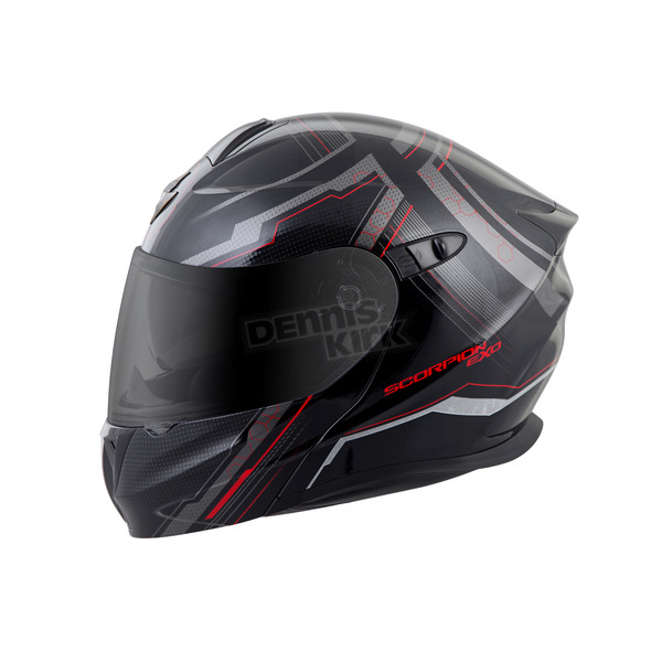 Scorpion Black/Red EXO-GT920 Satellite Modular Helmet - 92-1134
