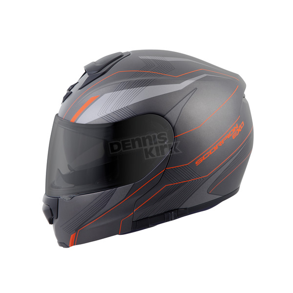Scorpion Matte Phantom/Orange EXO-GT3000 Sync Modular Helmet - 300-1135