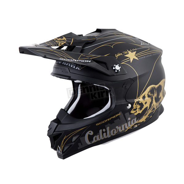 Scorpion Black VX-35 Golden State Helmet - 35-3014