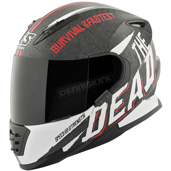 Speed and Strength Red/White/Black Quick and the Dead SS1310 Helmet - 874833
