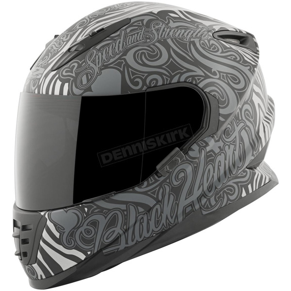 Speed and Strength Black/Gray Black Heart SS1310 Helmet - 874865