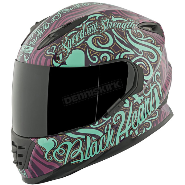 Speed and Strength Purple/Teal Black Heart SS1310 Helmet - 874866