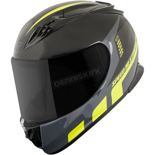 Speed and Strength Hi-Vis/Black Lightspeed SS3000 Helmet - 876163